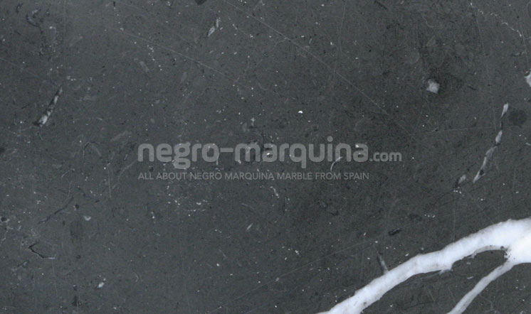 Negro Marquina marble honed