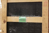 Negro Marquina marble tile crate