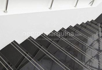 Negro Marquina staircases